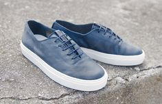 clean all leather night blue #stowandson #handmadeshoes #madeineurope