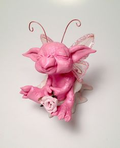Original Spring Baby DragonFly Art Doll by HedegaardsWhimsies, $49.00. Such a sweet little guy who looks so innocent!