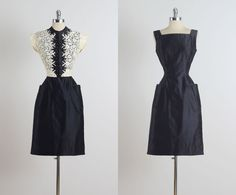 Reich . vintage 1950s dress . vintage 2 pc by millstreetvintage