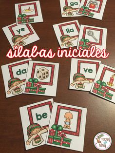 5 Spanish Christmas Syllable Stations for PreK and kindergarten.   Preview this resource on YouTube! https://youtu.be/jfwj4PftWPY