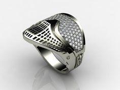 Flexes ring. I think the diamonds look funny. But its kinda cool. Can they make one of grillz please!?! Lol