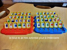 Qui est ce forme géométrique DIY Guess who? to explore geometric shapes! This could actually be used for a variety of math concepts Maths Eyfs, Math Classroom, Classroom Activities, Numeracy, Math Work, Fun Math, Math Games, Easy Preschool Crafts, Preschool Math