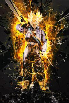 Dragon Ball Future Trunks - by SyanArt @ Dragon Ball Image, Dragon Ball Z, Trunks Super Saiyan, Majin Boo, Ultimate Dragon, Fantasy Tv, Dbz, Trees To Plant, Poster Prints