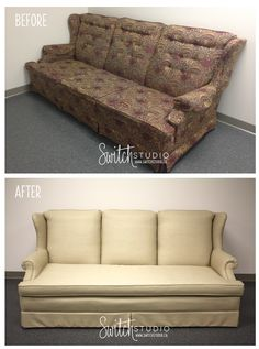 Switch Studio Before U0026amp; Afters: Reupholstered Sofa. Http://www.