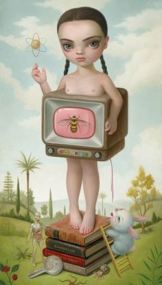 Best ideas for pop art print mark ryden Art And Illustration, Gravure Illustration, Illustrations, Mark Ryden, Arte Lowbrow, Art Bizarre, Weird Art, Art Pop, Dibujos Cute