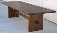 Black Walnut Trestle Table 10