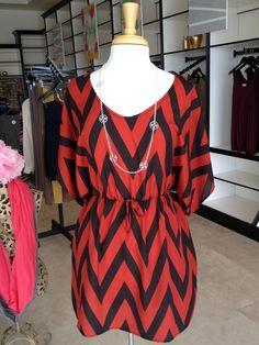 chevron tunic dress
