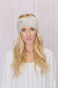 Image of Knitted Turband Headband Mohair Ear Warmer