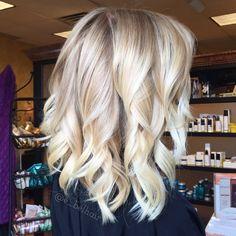 Blonde balayage and a fresh cut lob