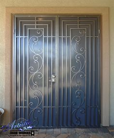 Prato - Wrought Iron Security screen Double Doors - FD0143