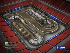 The Monster Energy AMA Supercross Raymond James Stadium in Tampa Dirt Bike Track, Motocross Tracks, Raymond James Stadium, Pit Bike, Pumps, Monster Energy, Mountain Biking, Yamaha, Toy