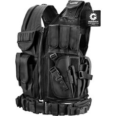 Barska BI12018 VX-200 Customizable Loaded Gear Black Tactical Vest Right Hand