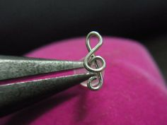 16 gauge Sterling silver Treble clef Silver bio flexible Tragus on Etsy, $10.95