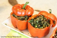 Kale and Quinoa Stuffed Peppers | Lauren Kelly Nutrition