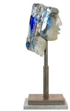 Swedish glass art Head