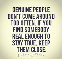 Genuine people ..
