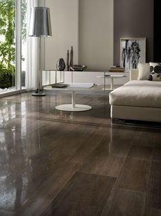 Wood Look Porcelain Tile  Floor: Semi polished wood look porcelain tile more »  Horizon Italian Tile  LIVING ROOM