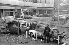 Aftermath of Provisional IRA bomb at Europa Hotel, Belfast, N Ireland, extreme damage, no injuries, 197407250411a..Copyright Image from Vict...