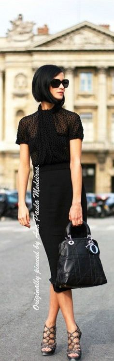 Hair, shades, top, skirt, bag, shoes. Uh huh, yep, that'll do.