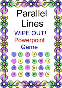 Parallel Line Angles - WIPEOUT! Powerpoint Game from MarieDompierre from MarieDompierre on TeachersNotebook.com (60 pages)  - Parallel Line Angles, Game, Powerpoint, Geometry