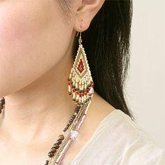 Recipe No.678 ethnic fringe earrings sub-image 2