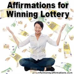 Do you sincerely wish to win the lottery? If you are also a believer in Law of A.Do you sincerely wish to win the lottery? If you are also a believer in Law of Attraction then let these Powerful Affirmations for Winning Lottery hel. Power Of Attraction, Law Of Attraction Money, Manifestation Law Of Attraction, Law Of Attraction Affirmations, Law Of Attraction Quotes, Winning Lottery Numbers, Lottery Winner, Winning The Lottery, Lotto Numbers