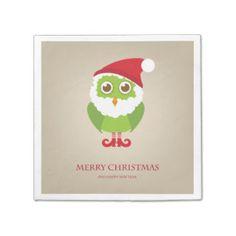 Owl Christmas Napkins | Zazzle.co.uk
