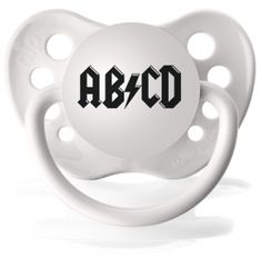 Kiditude - AB/CD Pacifier $5.95 Read more: http://www.kiditude.com/catalog/cool-baby-pacifiers/abcd-pacifier-333.html