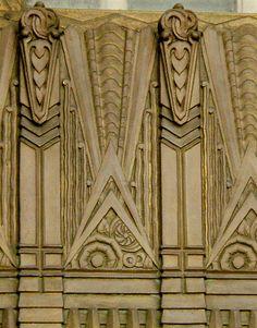 Detail of William Fox Building, 1930's Art Deco  1929 by architect Samuel Tilden Norton, 608 S. Hill Street downtown LA  Take on the LA Conservancy Art Deco Tour