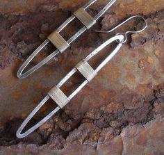 Sterling Silver Earrings Sculptural Sterling by LisaFlanders, $85.00