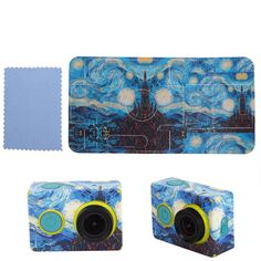 New Van Gogh Painting Star Starry Sky Sticker Skin Protector Case For XiaoMi Yi #UnbrandedGeneric