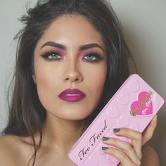 "Melissa Alatorre on Instagram: ""Yaaaassss @toofaced Chocolate Bon Bons lips are @nyxcosmetics Ombré Lip Duo in Hollywood and Wine"