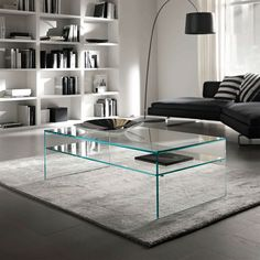 Furniture:Minimalist Coffee Table Design Ideas For Stylish Living Room Pretty Minimalist Coffee Table From Acryic Inside Airy Apartment Living Area Contemporary Glass Coffee Tables, Unique Coffee Table, Coffee Table Styling, Decorating Coffee Tables, Coffee Table Design, Modern Coffee Tables, Creative Coffee, Coffe Table, Glass Furniture