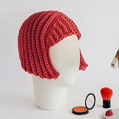 Free Crochet Halloween Wig pattern with DMC Natura XL. Easy Halloween DIY ideas from Commonthread by DMC.