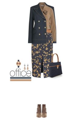 Office outfit: Denim - Nude by downtownblues on Polyvore