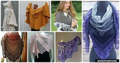 A list of gorgeous handmade shawl wrap to keep ladies in warmth and in style. They are worked in different stitch of patterns,