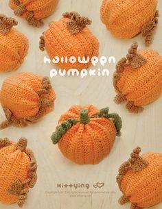 CROCHET PATTERN Halloween Pumpkins Amigurumi Crochet by kittying.com from mulu.us