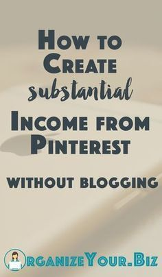 How to work from home on Pinterest and make REAL money, without a blog!
