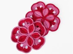 Set of 2 Valentines Day Crochet Hot Pads - Made to Order. $15.00, via Etsy.