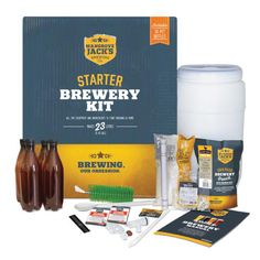 Mangrove Jack's Home Brew Starter Brewery Kit with Bottles - A complete set of quality brewer's equipment and specialised ingredients to get you brewing today! - Mash Paddle Brewing Supplies equipment near me Home Brew Supplies, Brewing Supplies, Home Brew Shop, Home Brewing Equipment, Homemade Beer, Pet Bottle, Beer Brewing, Starter Kit, Brewery