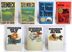 7 Vintage John Steinbeck Paperback Novels Instant by MoonriseBooks, $33.00