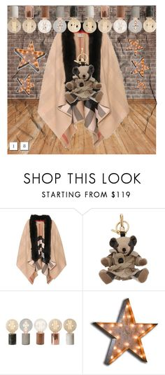 """""""burberry, thomas & ny"""" by broktonvilla on Polyvore featuring Burberry and Vintage Marquee Lights"""
