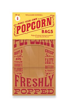 Williams Sonoma Popcorn bag by Lab Partners.