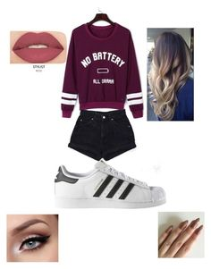 """""""Untitled #192"""" by journeycarothers ❤ liked on Polyvore featuring WithChic, Levi's, adidas and Smashbox"""