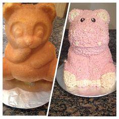 Panda cake pan into a hippo cake