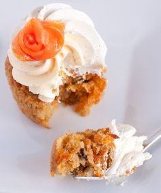 carrot cake with carrot rose