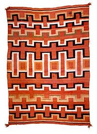 Navajo blanket with patterns