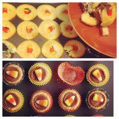 Candy corn cupcake treats descend into a #pinterestfail