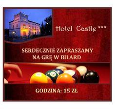 Godzina gry w bilard - 15zł (dla gości hotelowych - 10zł)