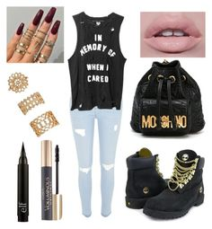 """""""Sin título #397"""" by mariel3-69 ❤ liked on Polyvore featuring River Island, Timberland, Moschino, L'Oréal Paris and Forever 21"""